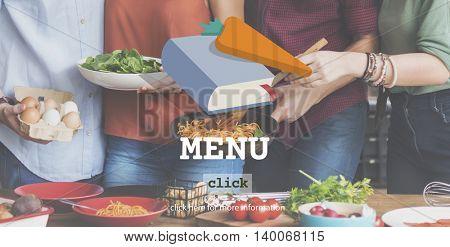Menu Cooking Meal Ingredients Preparing Concept