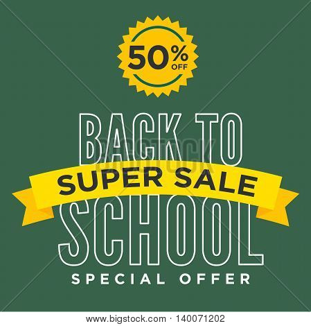 Back to School Sale Sign with Ribbon