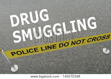 Drug Smuggling Concept