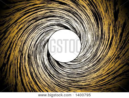 Golden Background With Spiral