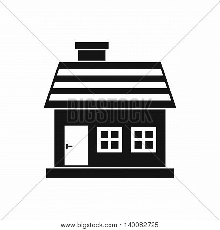 One-storey house icon in simple style isolated on white background. Structure symbol