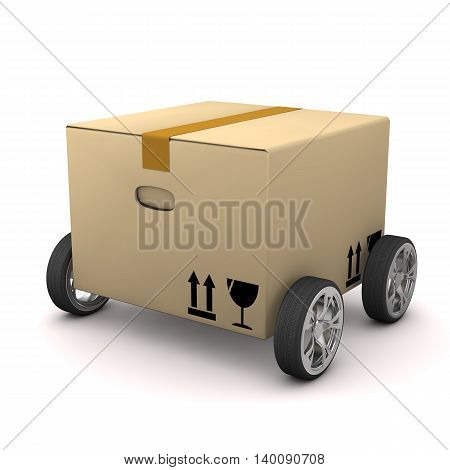 Box With Tires