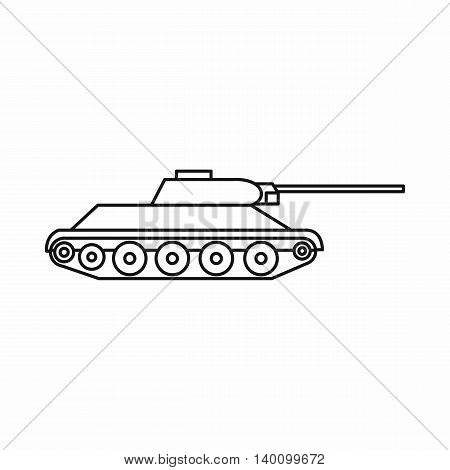 Tank icon in outline style on a white background