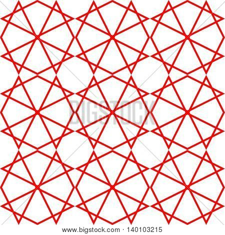 Tile vector pattern or red and white wallpaper background