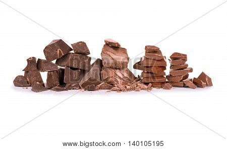 Chocolate bar/ chocolate bar pieces / nut chocolate/ chocolate background