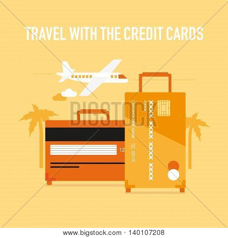 Travel with the credit or debit cards, cashless payments