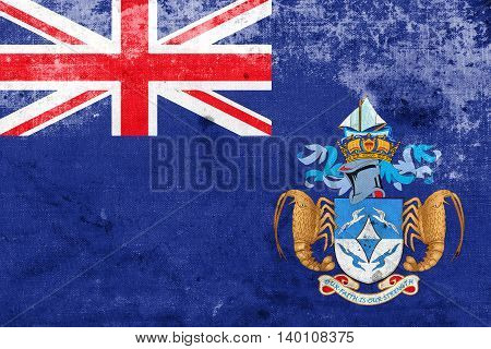 Flag Of Tristan Da Cunha (part Of Saint Helena, Ascension And Tr