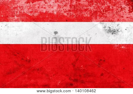 Flag Of Vaduz, Lichtenstein, With A Vintage And Old Look