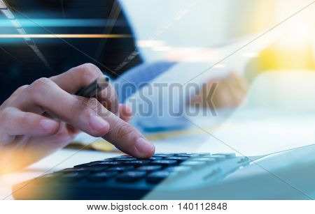 Recheck document or planing data for business market target and about accounting staff recheck data before approve document, business content, business background.
