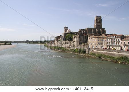 Ancient city of Saint Esprit in France