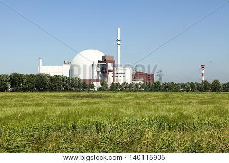Nuclear Power plant at Brokdorf, Schleswig-Holstein