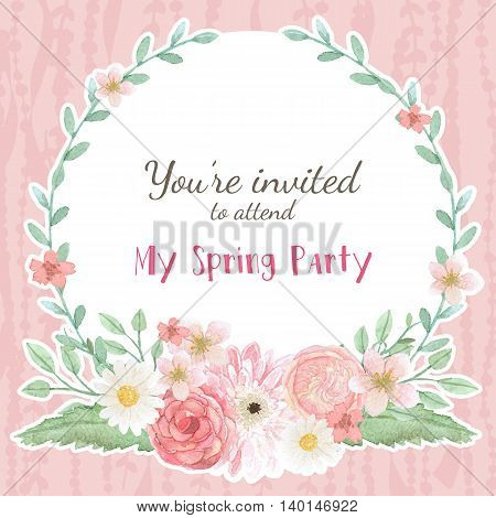 Flower wedding invitation card save the date card greeting card