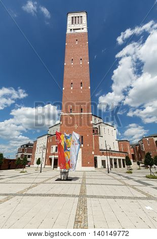 CRACOW POLAND - JULY 22 2016: - The centre of Pope John Paul II. Cracow LagiewnikI Poland