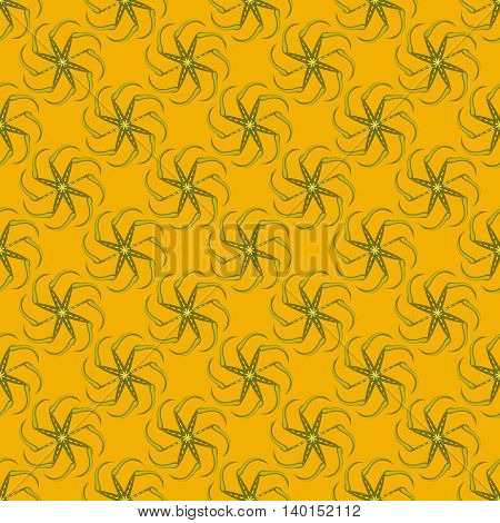 Kolovrat, or solstice - a Slavic symbol of the sun. Seamless pattern.
