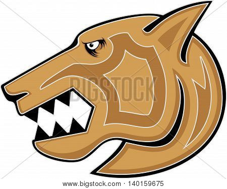wild cat symbol illustration vector design, Cougar design illustration vector design