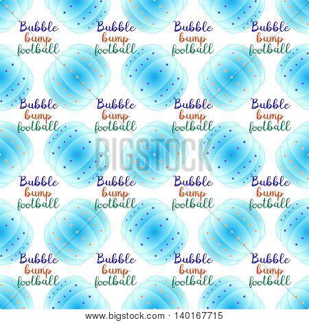 Bubble bump football equipment the seamless pattern.