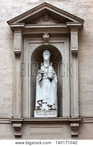 VATICAN, ROME, ITALY - June 30: statue of St. Gregorius Armenian, Illuminator at St.Peter's basilica in Vatican on June 30, 2014, Rome, Italy, was first official head of the Armenian Apostolic Church