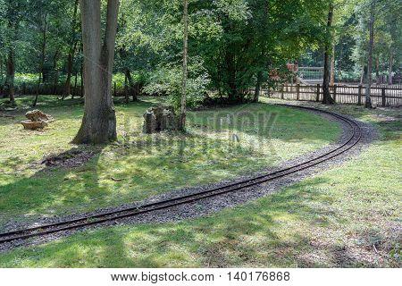 A narrow guage railway circuit in the UK