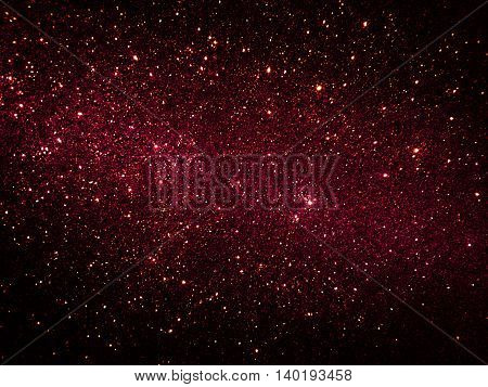 Black and red pink gradient Galaxy glitter texture background