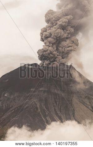 Tungurahua Volcano Spews Smoke And Ash In Fiery Eruption February 2016 Ecuador