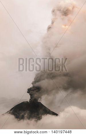 Tungurahua Volcano Spews Columns Of Ash And Smoke Ecuador