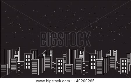 Silhouette of city collection stock vector illustration