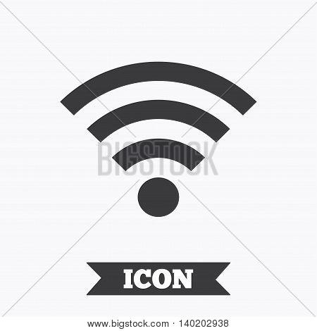Wifi sign. Wi-fi symbol. Wireless Network icon. Wifi zone. Graphic design element. Flat wi-fi symbol on white background. Vector
