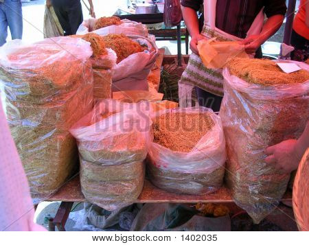 Tobacco Booth In Market