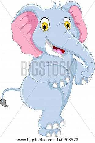 cute elephant cartoon dancing for you design