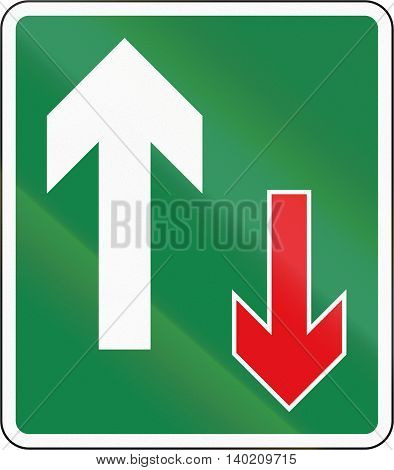 Road Sign Used In The African Country Of Botswana - Oncoming Traffic Is Required To Give Way