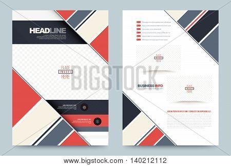 Business annual report brochure flyer design template vector, Leaflet cover presentation abstract geometric background, modern publication poster magazine, layout in A4 size