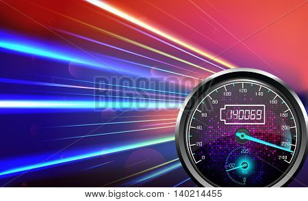 Illustration of The speedometer abstract light color background