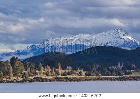 beuatiful scenic of lake te anau important traveling destination in south island new zealand
