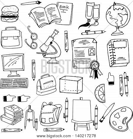 Doodle of education object stock vector illustration