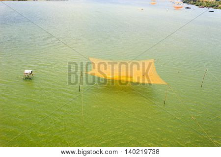Fishing nets on the Thu Bon River near Hoi An