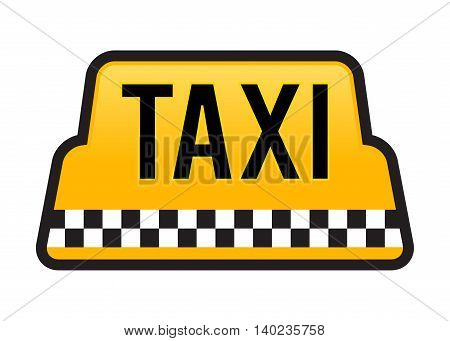 Vector stock of taxi car roof sign in yellow color