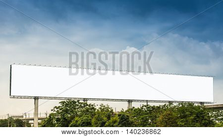 Blank billboard for outdoor advertising poster or blank billboard at night time for advertisement.