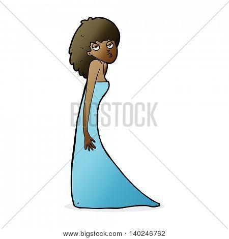 cartoon woman pulling photo face