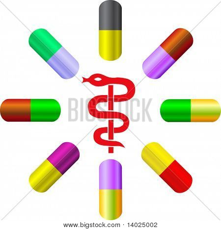 vector colorful capsules