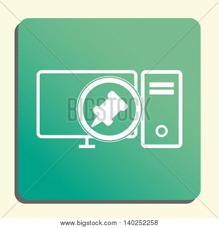 Pc Pin Icon In Vector Format. Premium Quality Pc Pin Symbol. Web Graphic Pc Pin Sign On Green Light