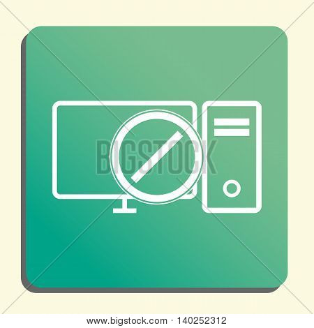 Pc Reject Icon In Vector Format. Premium Quality Pc Reject Symbol. Web Graphic Pc Reject Sign On Gre