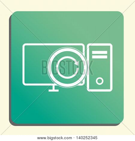 Pc Reload Icon In Vector Format. Premium Quality Pc Reload Symbol. Web Graphic Pc Reload Sign On Gre