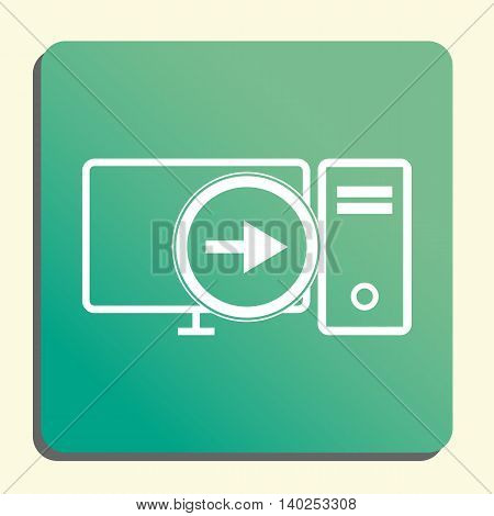 Pc Right Icon In Vector Format. Premium Quality Pc Right Symbol. Web Graphic Pc Right Sign On Green