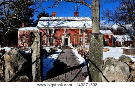 Sudbury Massachusetts - November 24 2014: The historic 1716 Wayside Inn immortalised in Longfellow's famed poem