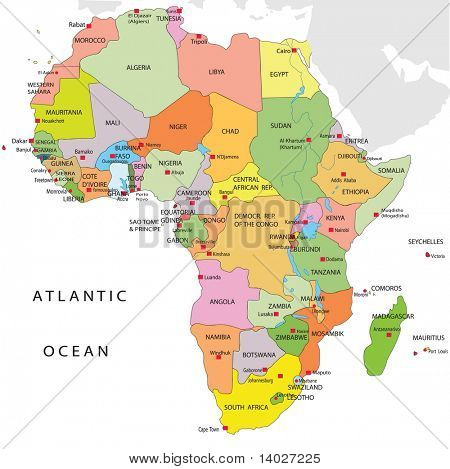 Political map of Africa