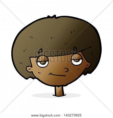 cartoon smug looking boy
