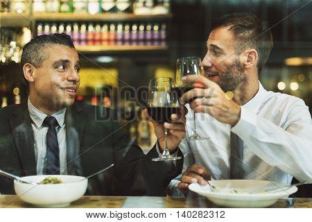 Colleague Friends After Work Dinner Concept