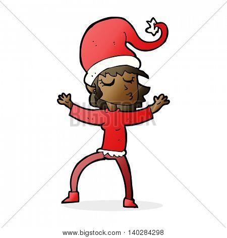 santa's helper cartoon