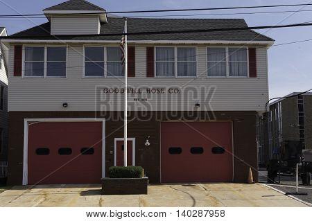 Belmar NJ USA -- July 28 2016 Belmar NJ Firehouse (The Goodwill Hose Co). Editorial Use Only