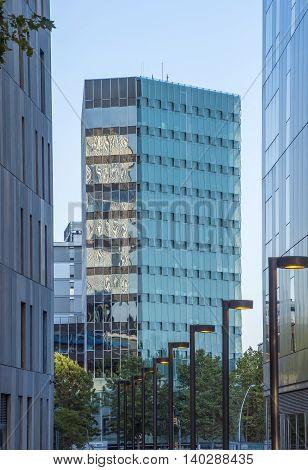 BARCELONA SPAIN - JULY 10 2016: Modern buildings in Barcelona located near the Agbar Tower